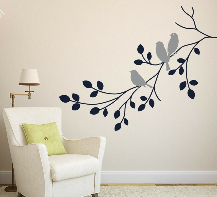Vinilos para pared para decorar vuestros interiores - Pintar paredes interiores ...