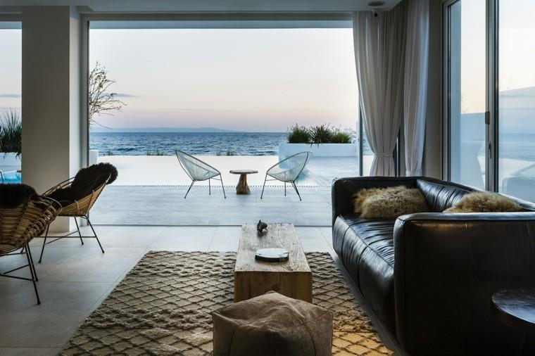 vista excelente playa muebles alfombras