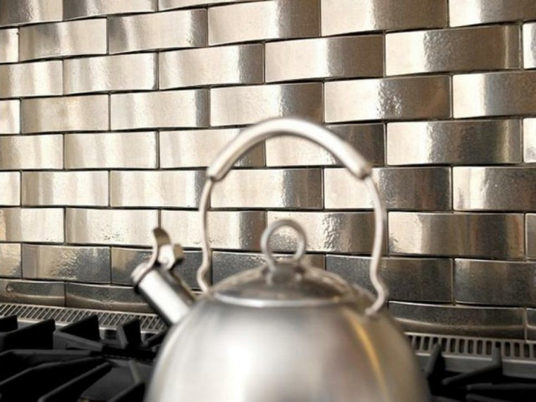 azulejos de cocina metalizados