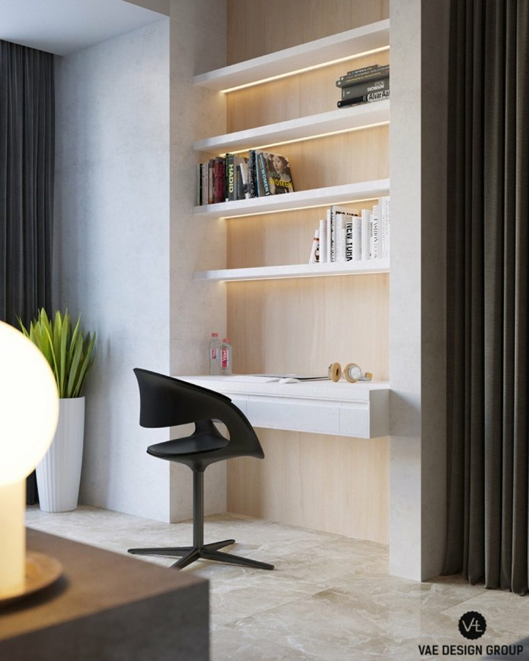 zona estudio materiales concepto led