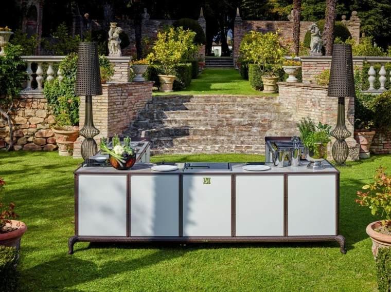 Fotos de cocinas al aire libre - ideas para darle chispa al jardín -