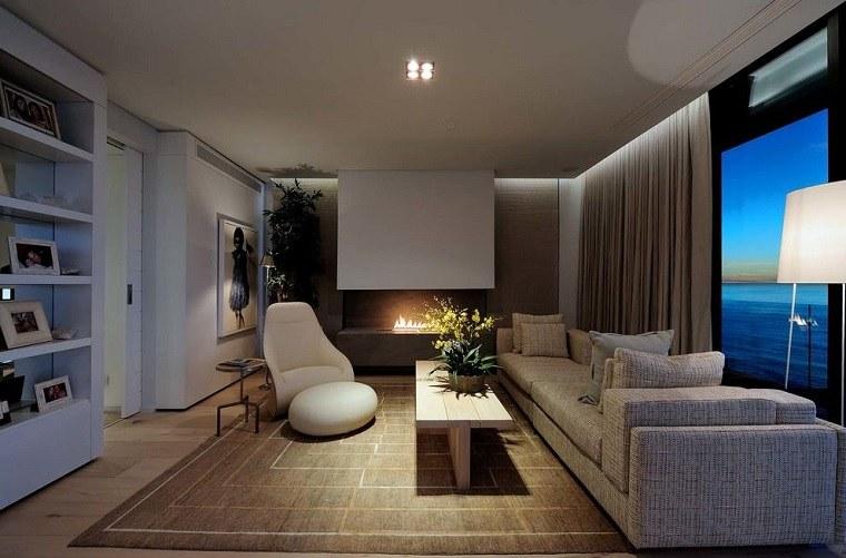 Peerutin Architects salon cortinas diseno contemporaneo ideas