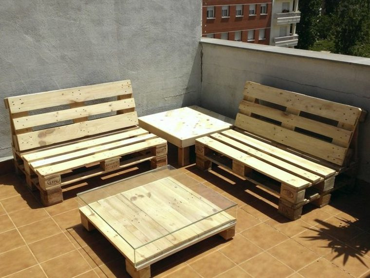 original zona chill out con palets madera