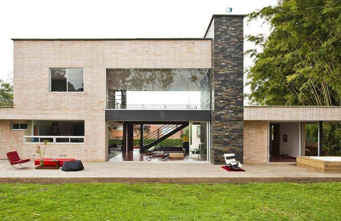terrazas diseño minimalista abierta espacial muebles amarillos