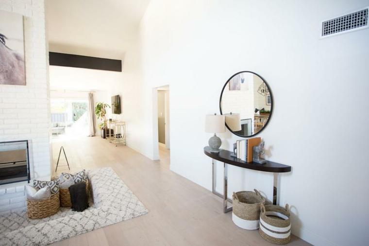 abierto pasillos canastas tejidos alfombras