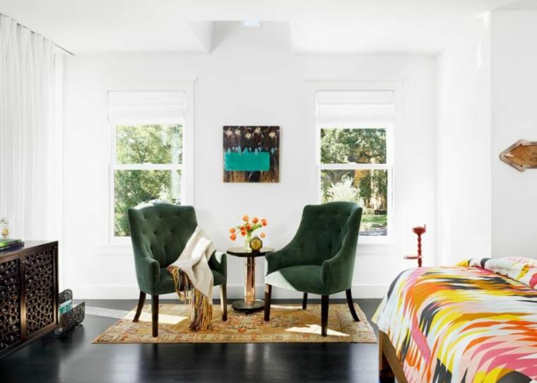 acentos coloridos muebles materiales suelos