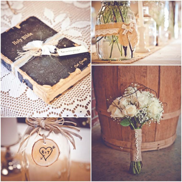adornos para boda estilo vintage