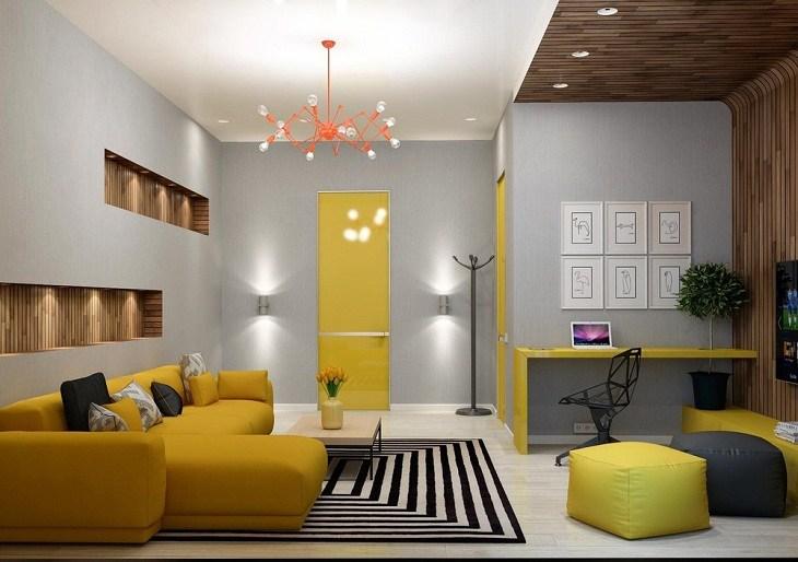 amarillo alfombras negra blanca luces