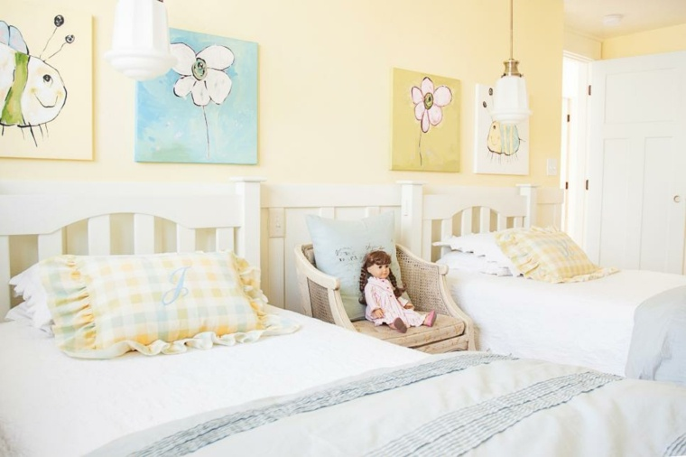 ambiente campestre tonos pastel cortinas