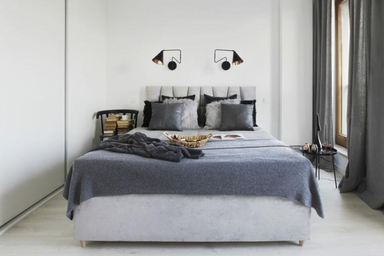aparatamento diseno nordico dormitorio Agnieszka Karas ideas