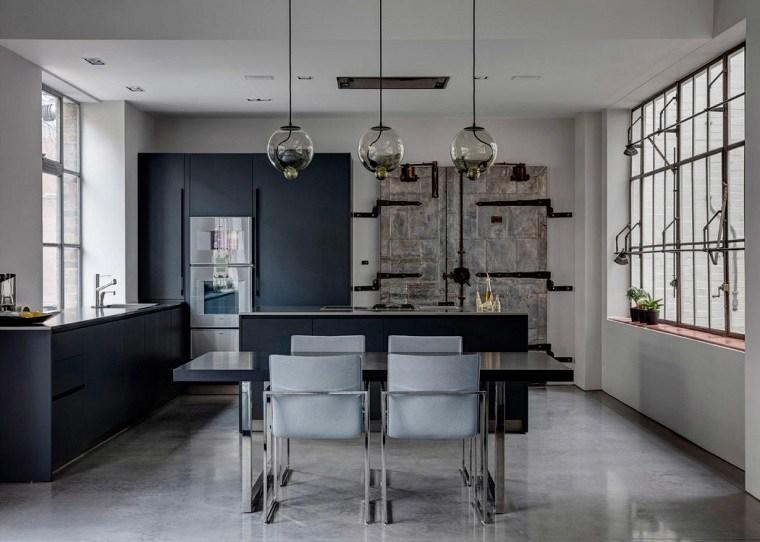 apartamento industrial diseno APA cocina comedor ideas