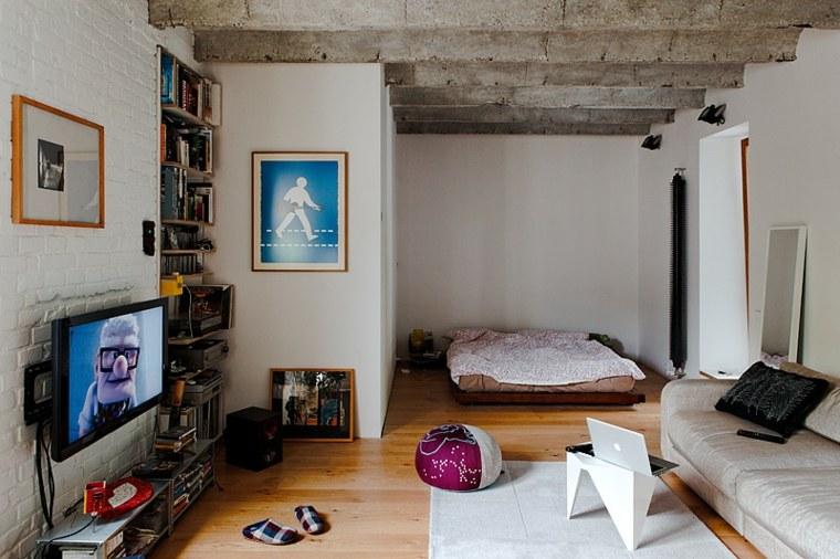 apartamento tipo loft vigas cemento
