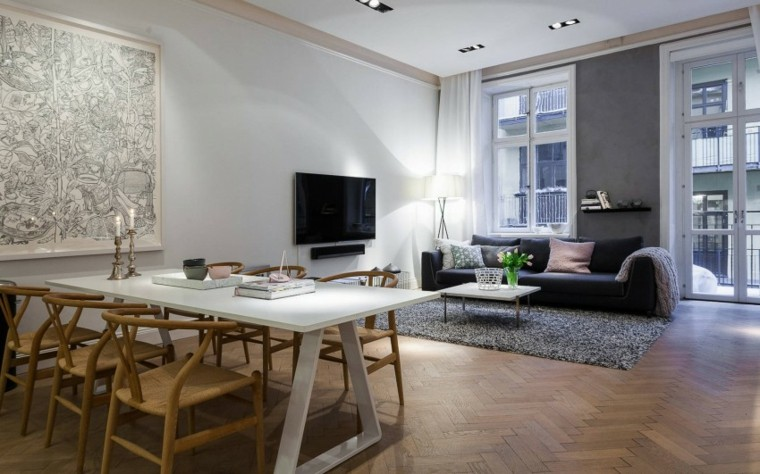 apartamento moderno estilo escandinavo ideas