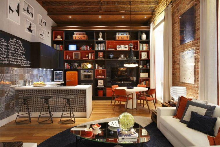 apartamento pequeño salón cocina