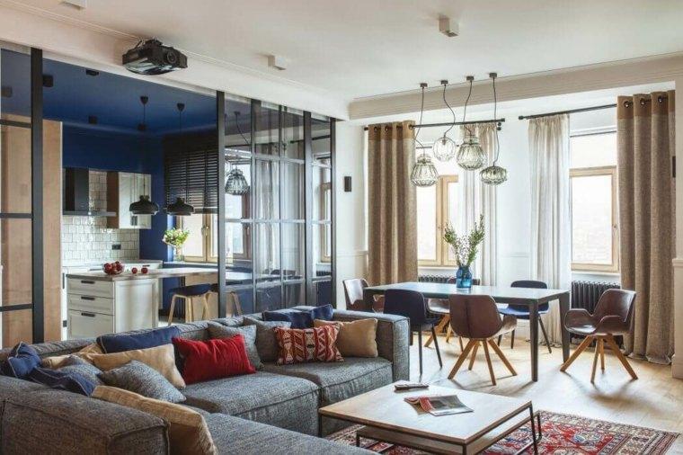 apartamento salon comedor Oksana Dolgopiatova ideas