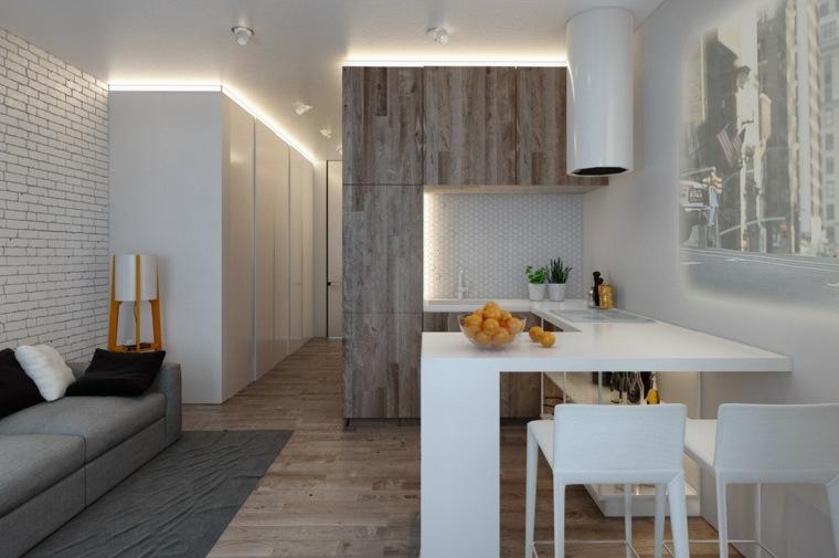 apartamento tipo loft comedor cocina