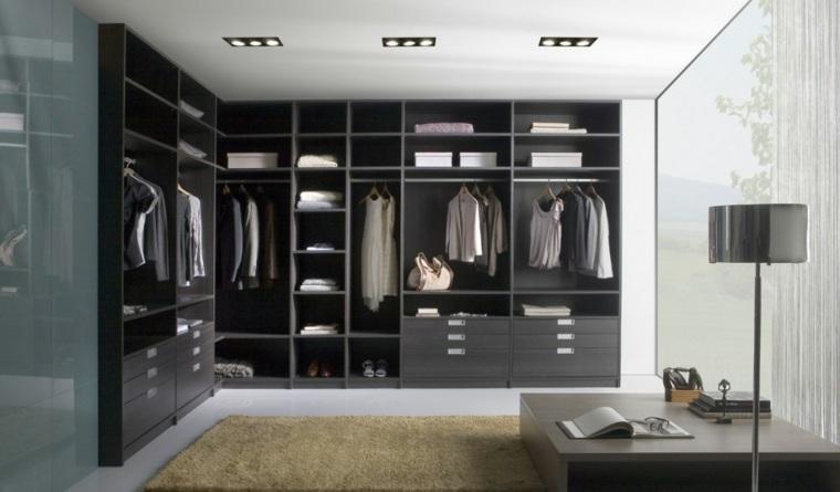 armario empotrado angulo habitacio grises