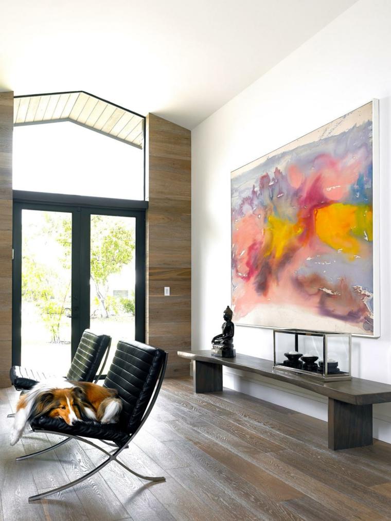 arte paredes muebles bajos modrnos