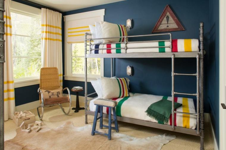 azul ropa cama colorida intensas