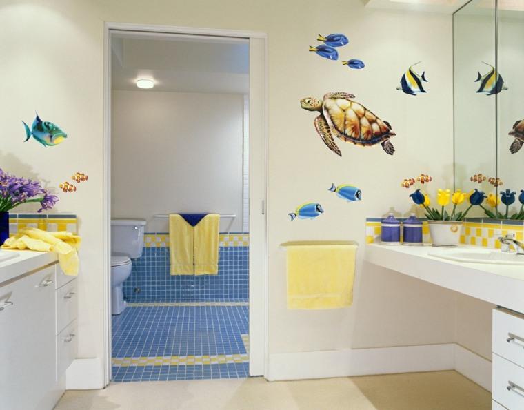 baños infantiles pegatinas vinilo