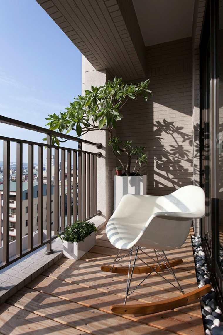 balcones decoracin apropiada para los lugares estrechos y pequeos - Decoracion Balcones