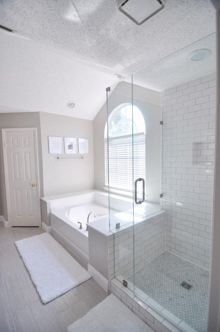 baño color blanco moderno