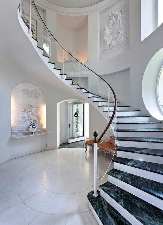 barandillas combinadas cristal elegantes marmol