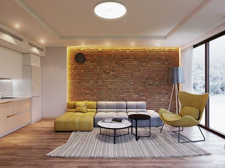 bello efecto gris paredes sala madera