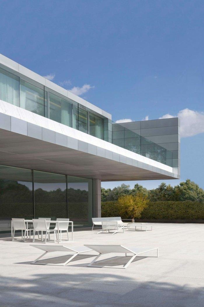blanca estilo minimalista patio decoraciones