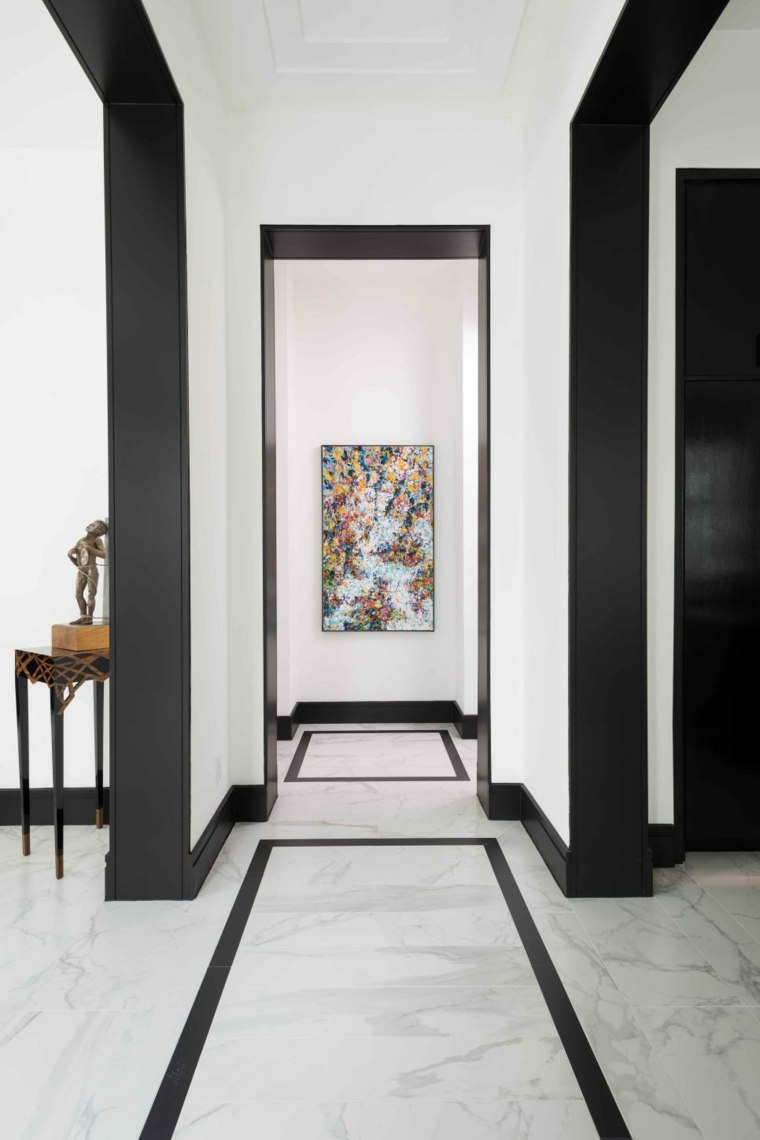 blanco negro arte contemporaneo marmol