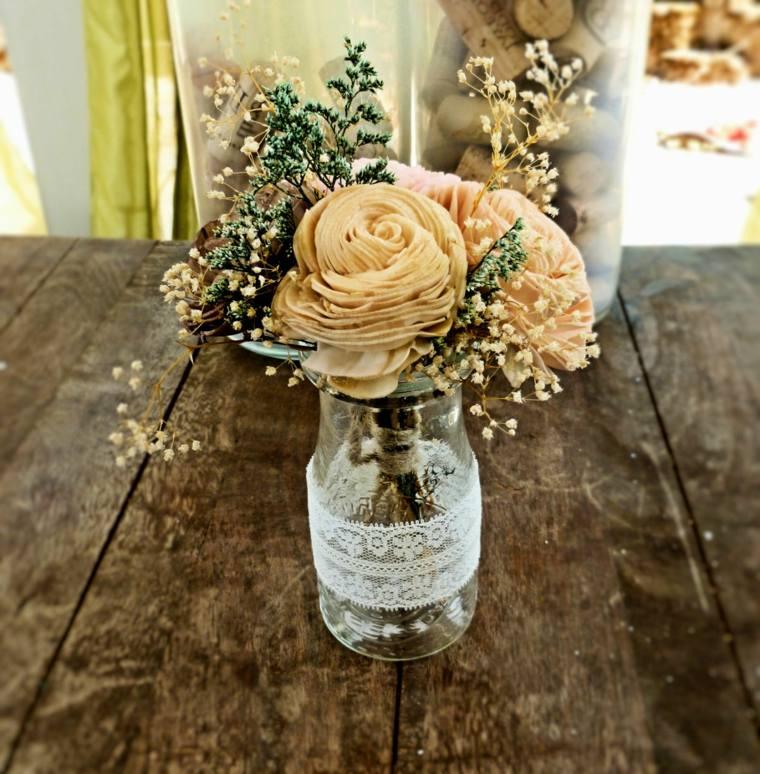 boda rústica decoración mesa