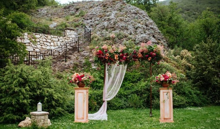 bodas sencillas decoracion arco ceremonia diseno original idxeas