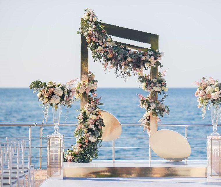 bodas sencillas decoracion arca diseno gurnalda ideas