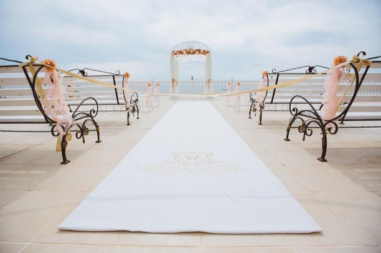 bodas sencillas decoracion camino bancos arca ideas