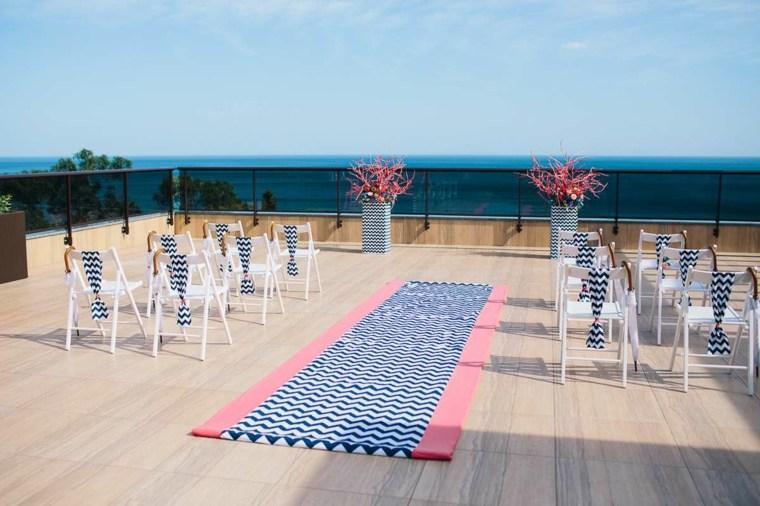 bodas sencillas decoracion camino sillas diseno ideas