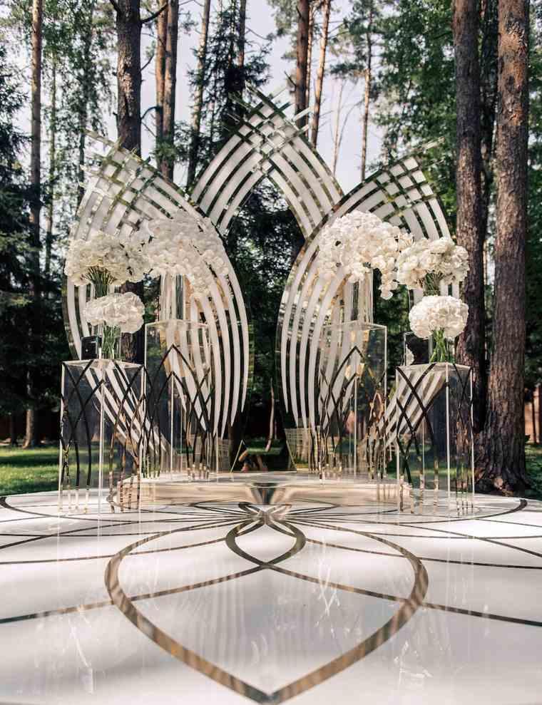 bodas sencillas decoracion eegante cristales diseno ideas