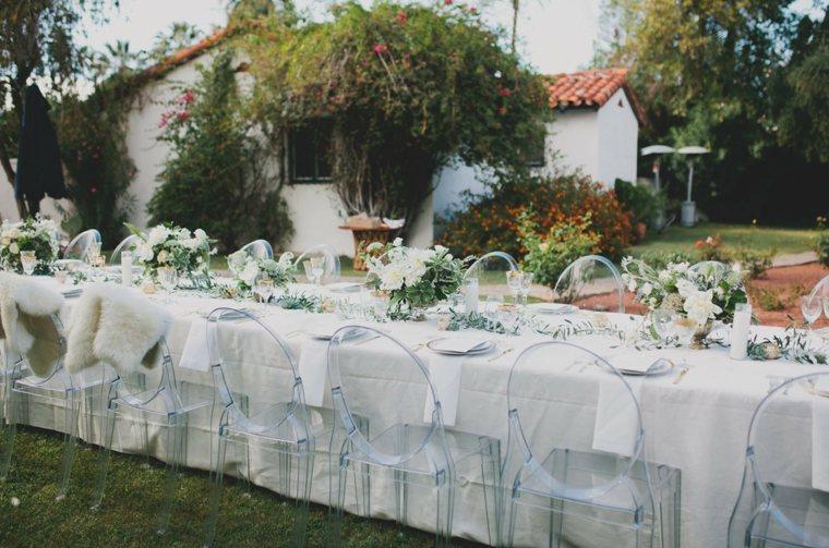 bodas sencillas decoracion mesa banquete opciones ideas