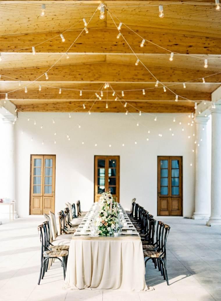 bodas sencillas decoracion mesa banquete simple ideas