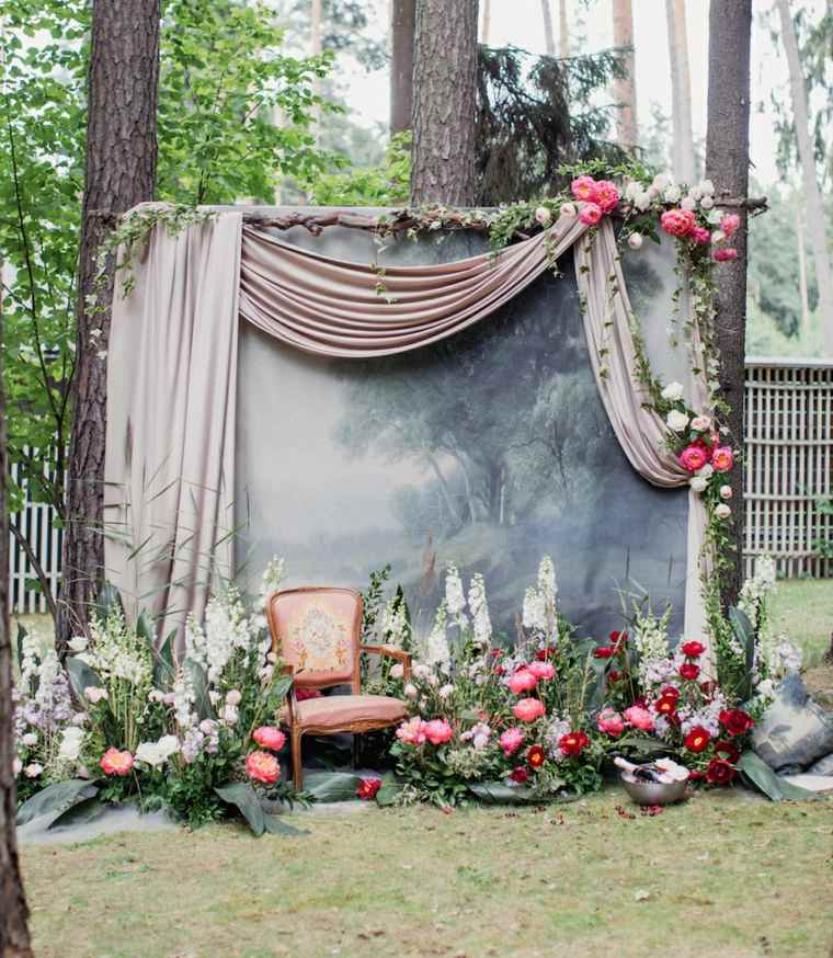 bodas sencillas decoracion photocall boda diseno ideas - Bodas Sencillas