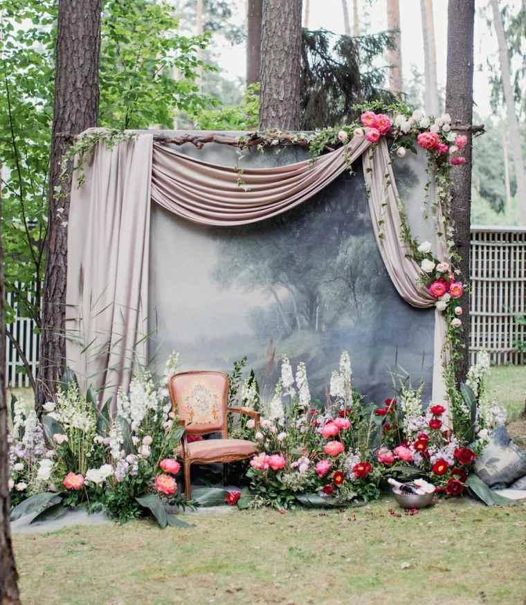 bodas sencillas decoracion photocall boda diseno ideas