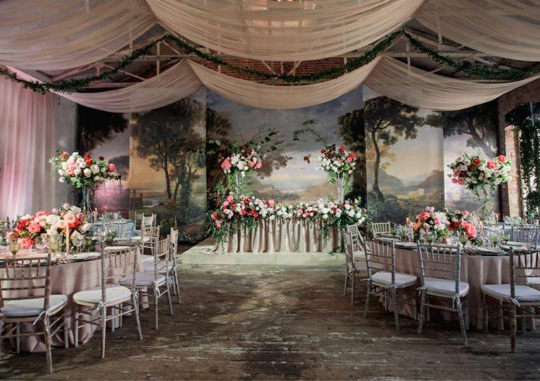 bodas sencillas decoracion sala recepcion diseno ideas