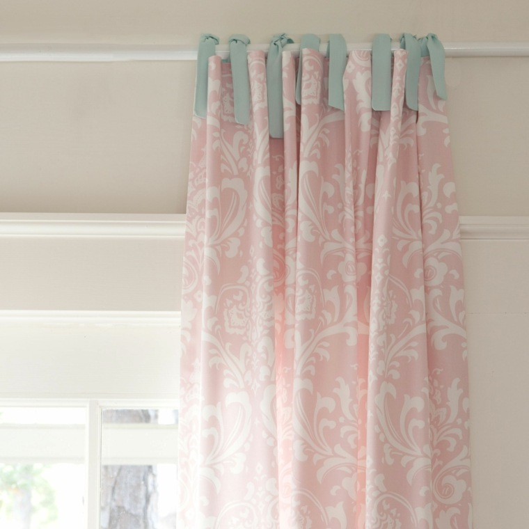 bonita cortina colores pastel
