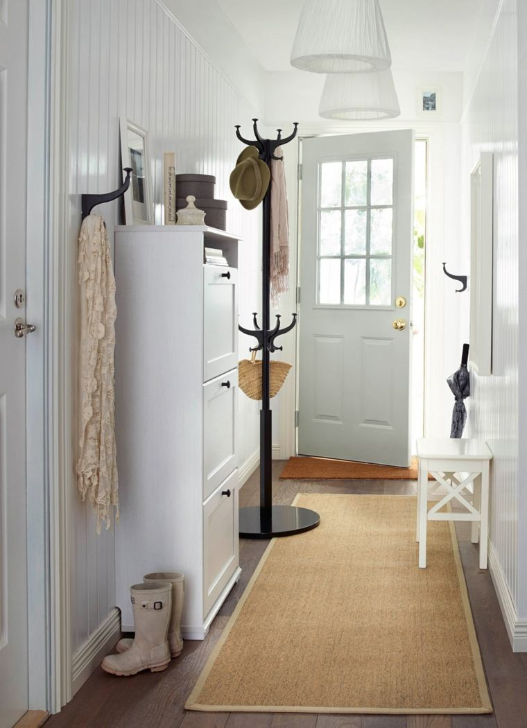 Ideas para pintar un pasillo de recibidor de entrada - Muebles de pasillo ...