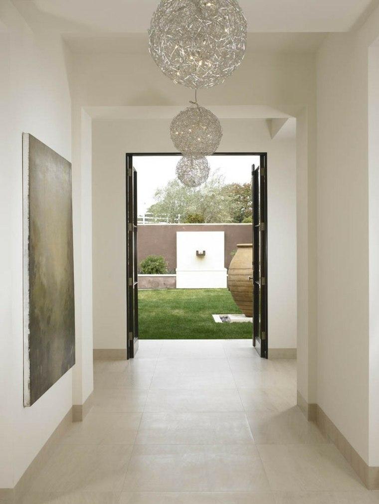 bonita entrada estilo minimalista beige