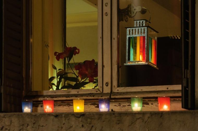 linternas vidrios colores originales