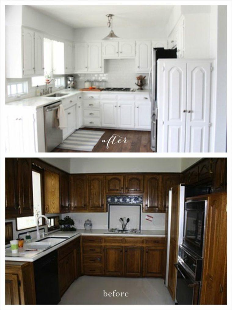 bonita reforma cocina blanca vintage - Cocinas Reformadas