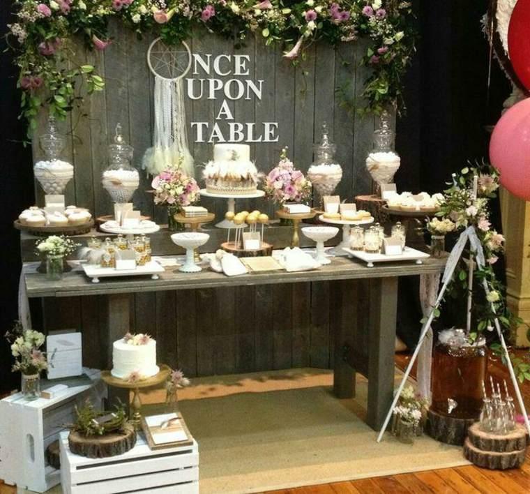 bonita mesa dulces para bodas