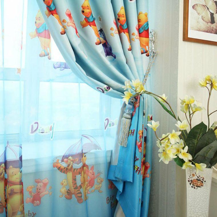 Dise os de cortinas para ni os modelos coloridos y - Barras de cortinas infantiles ...