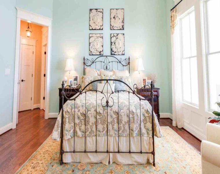 bonita decoración habitación vintage