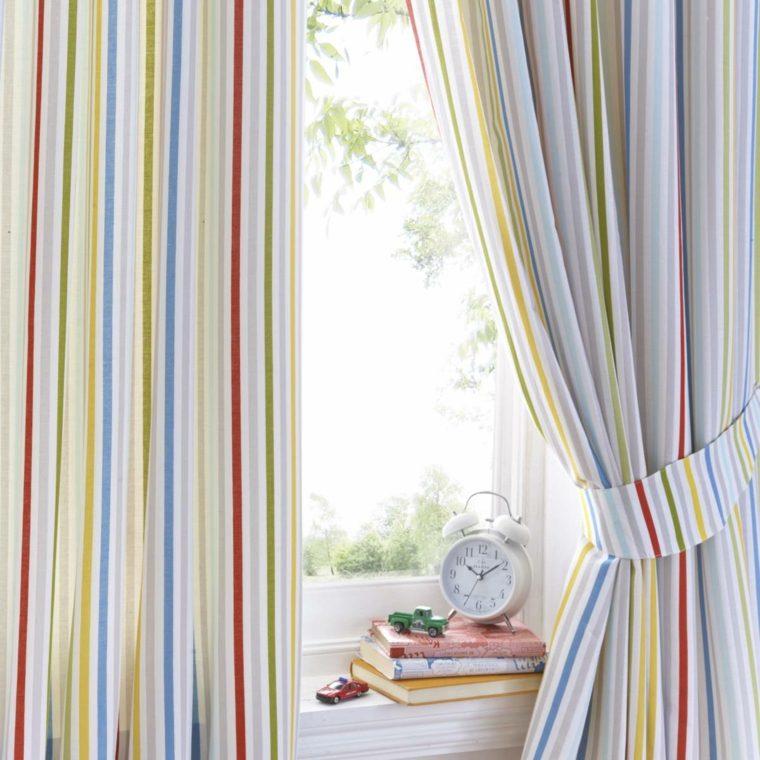 bonitas cortinas rayas colores